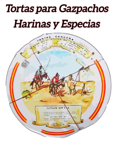 Tortas y Bolsas para Gazpacho, Harina de Almortas, Garbanzos y Especias